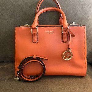 Orange leather Henri Bendel bag